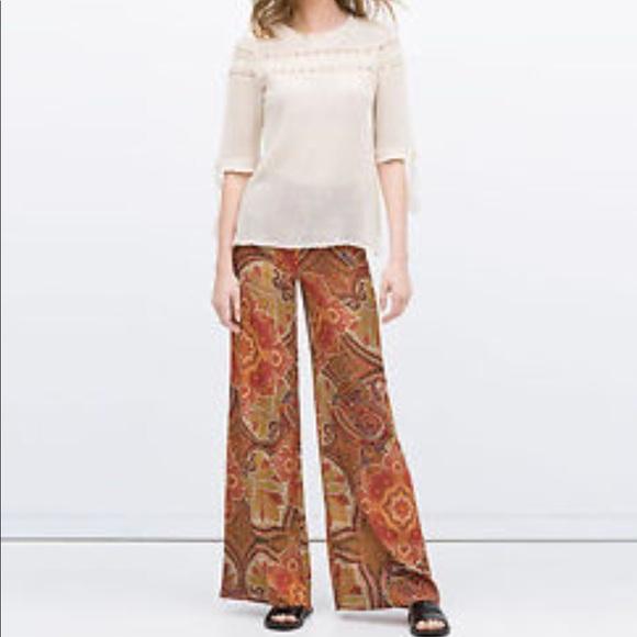1a3f27c1 Zara Pants | Woman Palazzo Medium Fall Career | Poshmark